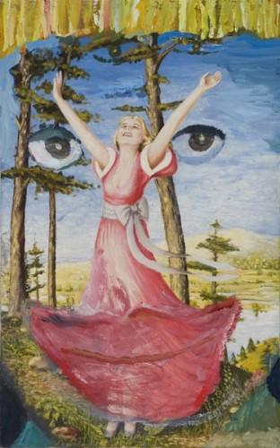 margot bergman,joy gaye,2008,acrilique sur toile, peinture d'amateur modifiée.jpg