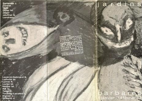 Couverture dépliant Les Jardins Barbares, Aunay-sous-Bois, 1982.jpg