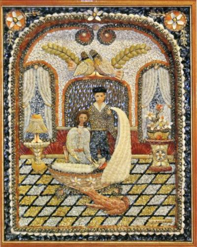 youen durand,lesconil,temple des arts,mosaïque de coquillages,art modeste, marie-christine durand, paul amar, pierre darcel, callune éditeur