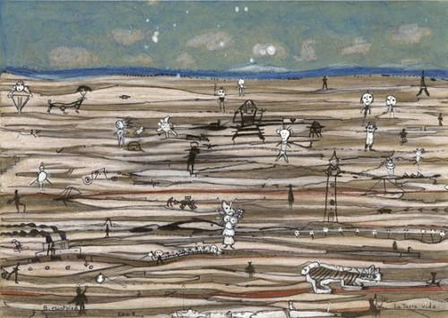 La Terre vide, crayons et encre sur papier, 21x29,7cm,2008, Bruno Montpied-.jpg