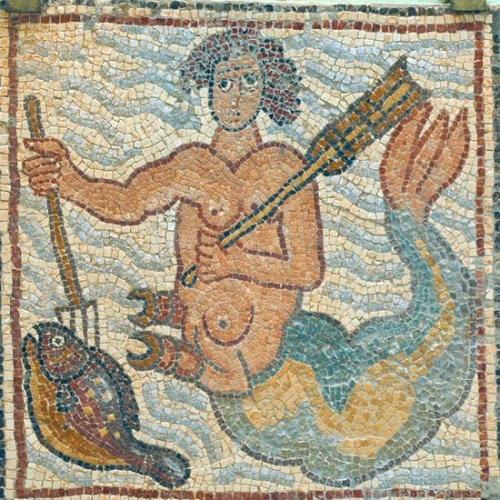 Triton, église de Qasr Lybia, VIe siècle.jpg