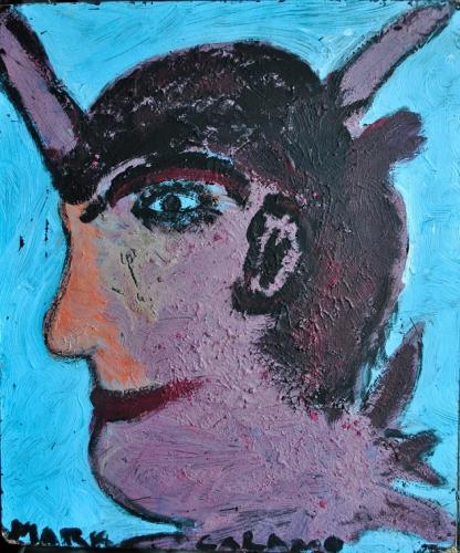Mark, sans titre (2) (Salamo ; tête cornue, ptêt un faune...), 33x28cm, 2016 (alt).jpg