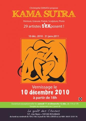 affiche expo Kamasutra au Goût des Choses, Roubaix, déc 2010-Janvier 2011.jpg