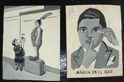 Javier Mayoral, peinture sur bois.jpg