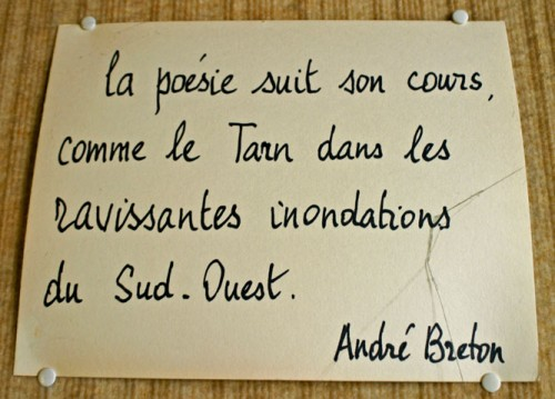 Citation d'André Breton, photo B.Montpied, Montauban, 2008.jpg
